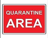 Nongmei Cartello per Area di Quarantena 8'x12' Segnale di Avvertimento per Uso Interno/Esterno Cartello di Quarantena Cartello in Metallo Targa in Metallo GLQ-01