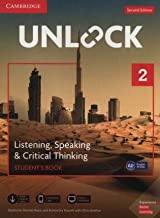 Unlock Level 2 Listening, Speaking & Critical Thinking Student's Book, Mob App and Online Workbook w/ Downloadable Audio a...