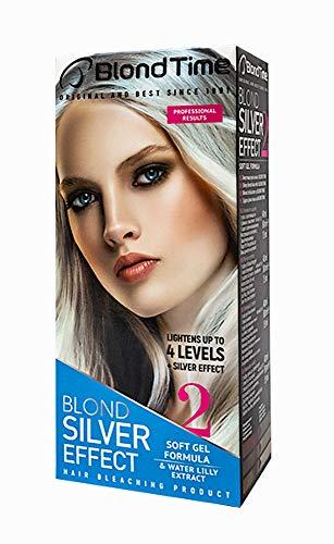 Blond Time Produit de Blanchiment des Cheveux Effet Argent Résultats Professionnels