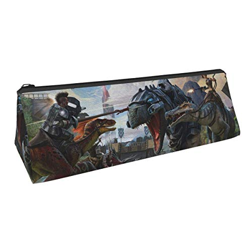 Ark Survival Evolved Pencil Pen Case Leather Cosmetic Bag Storage Box for School Office Teens Boys Girl