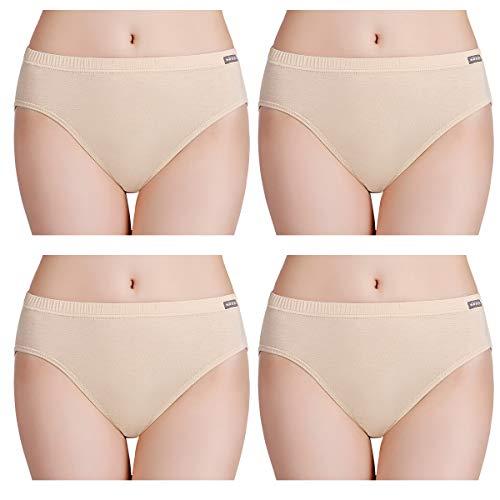 wirarpa Women's Ultra Soft Modal Knickers High Leg Microvezel Broek Ondergoed Effen High Cut Briefs Multipack
