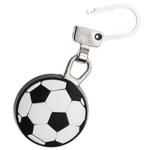 alles-meine.de GmbH Zipperanhänger - Fußball / Ball - Anhänger für Reißverschluss - Zipper - für Kinder / Mädchen & Jungen - Reißverschlußanhänger - Jacken Reißverschlüsse - Fuss..
