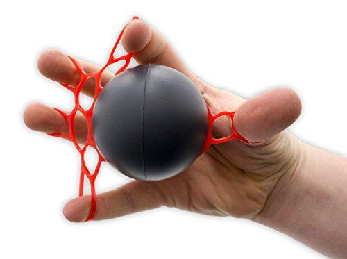 Therapie Exerciser mit doppeltem Ring | Handtrainer | Fingertrainer | Trainingsgerät für die Muskulatur der Hände und der Unterarme