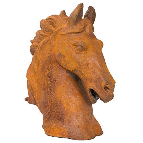 aubaho Testa di Cavallo Figura di Scultura 20 kg di Ferro di Cavallo Altezza Scultura
