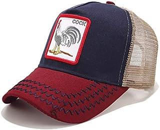 MissFun Embroidery Animal Baseball Cap Net Hat Cap Truck Driver Cap Breathable