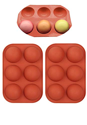 Small 2Pcs 6 Half 20 inch Rebound Small Circle Holes Semi Silicone Mold For ChocolateCakeDessertsBaking Cupcake Baking Pan kitchen Bakeware