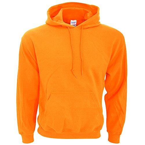 Gildan G125 DryBlend Adult Hooded Sweatshirt, Safety Orange, Large