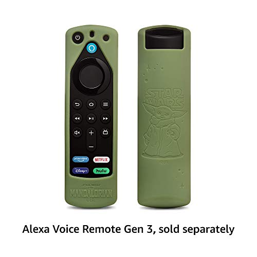 Star Wars The Mandalorian Remote Cover, for Fire TV Alexa Voice Remote Gen 3 (Grogu Green)