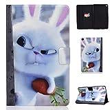 Lspcase Galaxy Tab S5e 10.5 Zoll Schutzhülle PU Leder Stand Flip Tablet Tasche Hülle mit Auto Schlaf/Wach Funktion für Samsung Galaxy Tab S5e 10.5 SM-T720 / SM-T725 Snowball Kaninchen