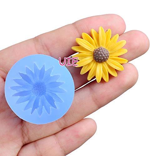 054LBH Bright Flower Flexible Silicone Push Mold Mini Resin Mold Fondant Gumpaste (Clay Fimo Resin Wax Epoxy Gum Paste Fondant)