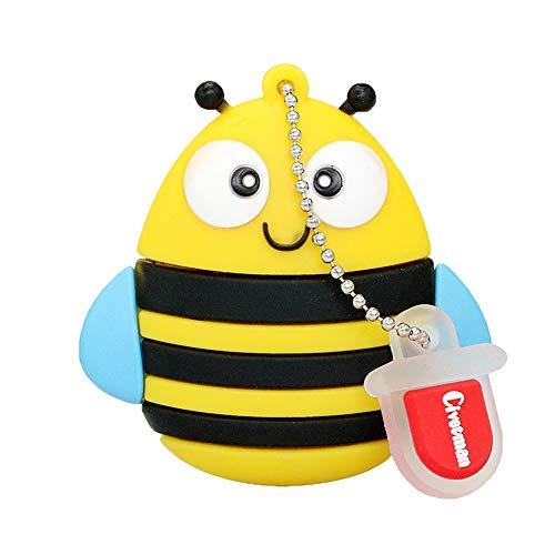 Cute Cartoon Animal Bee Forma USB Flash Drives 4GB Pen Drive Pendrives Thumb Drives Memory Sticks Jump Drive Novedad Regalos