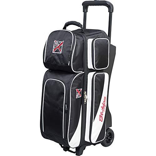 KR Strikeforce KR8366BKWH-1 Fast Triple Roller Bowlingtasche, schwarz/weiß
