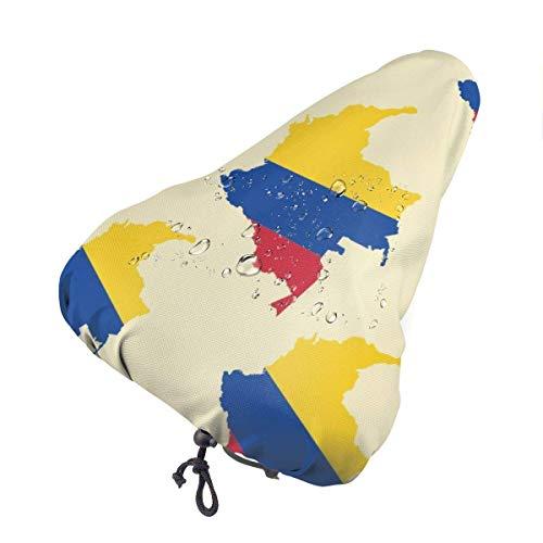 florasun Funda para asiento de bicicleta impermeable con diseño de mapa de Colombia con cordón resistente a la suciedad