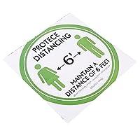 安全な距離を保つための病院用フロアサインステッカー自己接着剤(green)