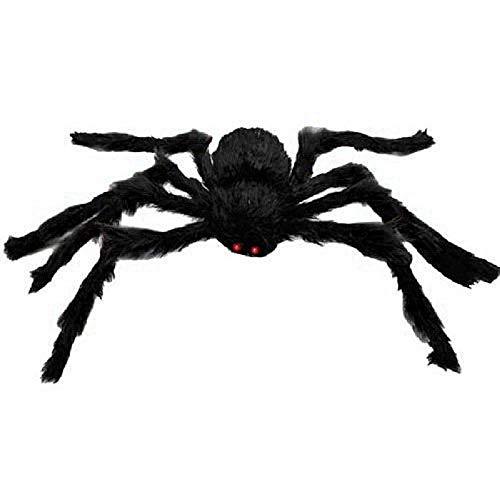 Ragno Peluche Lungo Halloween da 1,5 Metri Ragni Pelosi Spaventosi realistici per Decorazioni da Interni, Esterni e da Giardino, 1 Pezzo