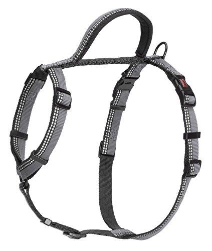 HALTI Hundegeschirr, mit 3M Reflektorstreifen und weichem Neopren-gefüttertem Griff, Klein, schwarz