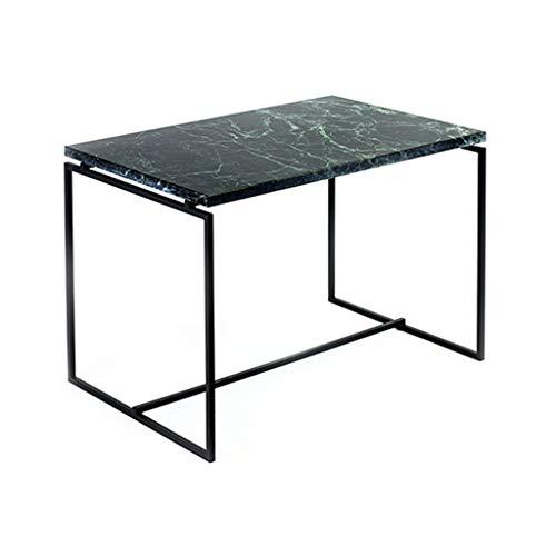 CSQ Marmortisch, Kreatives Wohnzimmer Eisen Kunst Esstisch Metall Sofa Tisch Seite Rechteck Freizeit Lesetisch Verhandlungstisch (größe : 60 * 40 * 42CM)