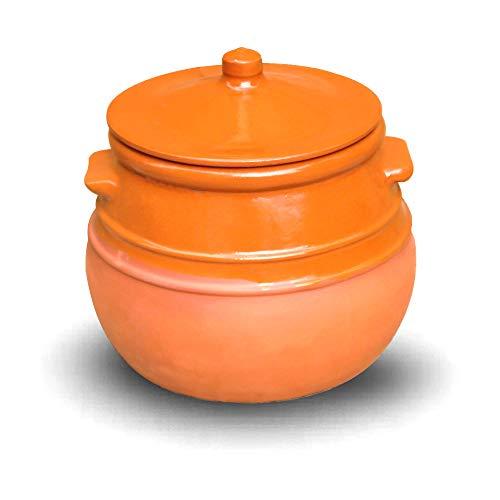 Cazuela de cerámica/olla de barro (para guisos) 3,5 litros 22 cm de...