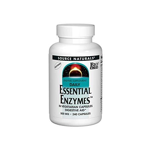 Source Naturals Daily Essential Enzymes (tägliche essentielle Enzyme), 500mg, 240 Vegetarische Kapseln, SN1303