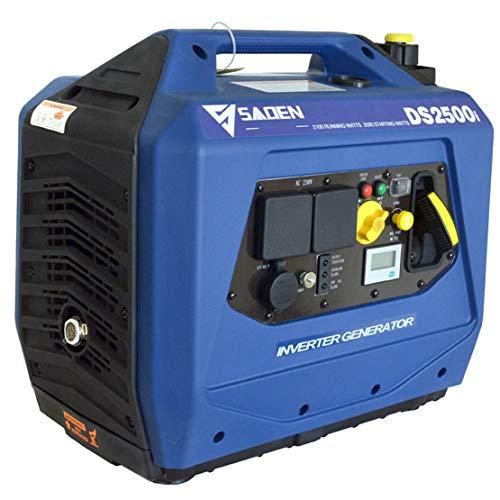 HIOD Generador de Inversor Generador de Emergencia Portátil Generador de Gasolina Silencioso - 2500w 2.5kva 230v para Casa RV Cámping