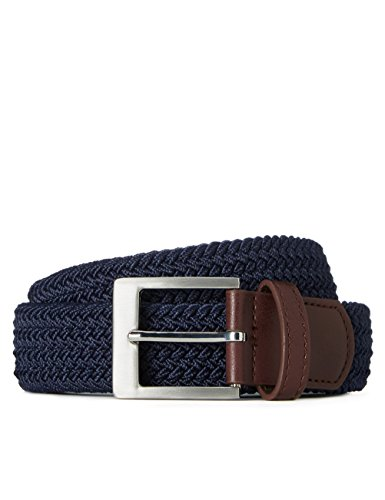 Marchio Amazon - find. Cintura Intrecciata Bicolore Uomo, Blu (Navy), L, Label: L