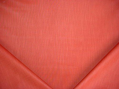 168RT4 - Carnelian Red Grosgrain Glazed Linen / Cotton Designer Upholstery Drapery Fabric - By the Yard