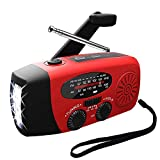 Emergency Solar Self Powered Radio, Weather Radio with Flashlight and Cellphone Charger,