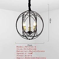 YYONGAO 台所のリビングルームの寝室のぶら下がっている豪華なLEDシャンデリア照明ダイニングルームランプノルディックシャンデリア (Lampshade Color : Black 4 lights)