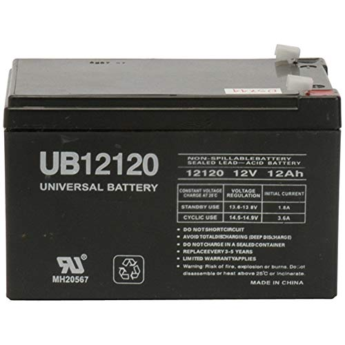 Universal Power Group 12V F2 12AH SLA Battery Replacement for Wilson Tennis Ball Machine