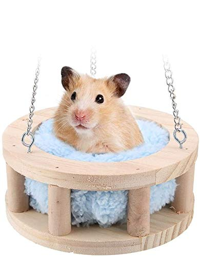 Pet Hamster Hammock Small Animals Hanging Bed Warm House Cage Sleeping Nest Snuggle Hut for Hamsters Guinea Pigs Ferrets Rabbits Chinchillas Rats Mice(S)