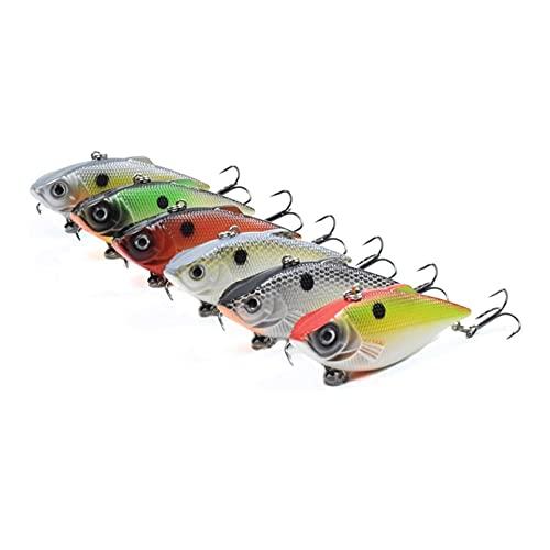 KKAAMYND 6pcs 60mm 8g Hard Wobbler VIB Bait Fishing Les Bolas de sonajero en el Interior para Pike Bass Pike en Ocean River Stream Grow Deep 1-2M (Color : CC31 6PCS)