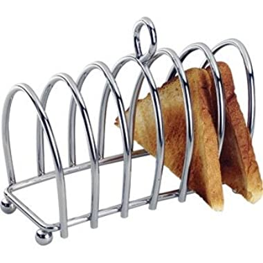 WIN-WARE 6 Slot Stainless Steel Toast and Bread Rack / Holder. Great for Breakfast with the Family