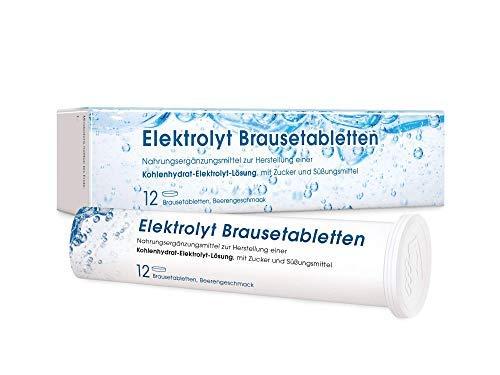 MEDICOM Elektrolyt Brausetabletten mit Natrium & Kalium • Vegan • Elektrolyt Getränk mit Beerengeschmack für die Flüssigkeitszufuhr • 1 x 12 Stk.