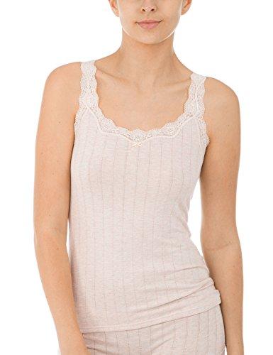 CALIDA Damen Etude Toujours Unterhemd, Beige (Sandshell Melé 862), 40 (Herstellergröße: XS)