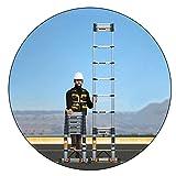 CCLLA Faltbare Verlängerungsleitern für die Teleskopleiter aus Aluminium, mit 78 mm verbreiterten...
