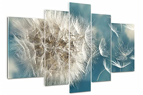 Tulup Cuadro de Cristal Impresión de 5 Piezas 170x100cm Pintura sobre Vidrio...