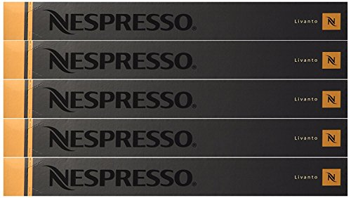 Nespresso Kapseln Bronze/Orange – 50 x LIVANTO – Original Nestlé – Espresso Cafe/Coffee