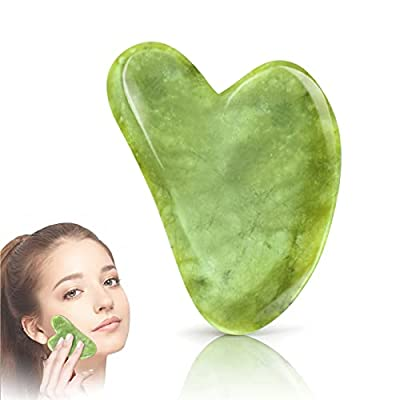 Amazon - 60% Off on Gua Sha Facial Tool – Jade Stone Guasha Board for Face Body Sculpting/Boost Radiance of Complexion