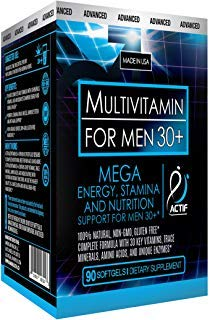 Actif Organic Multivitamin for Men Age 30+ with 30...