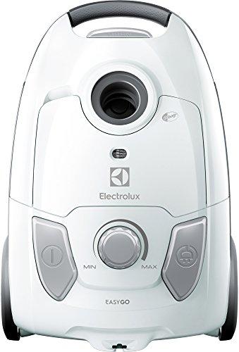 Electrolux EEG41IW Aspiradora con Bolsa Easygo, Hygiene Filter 12, versión Base, 600 W, 3,5 litros, 80 decibelios, Blanco
