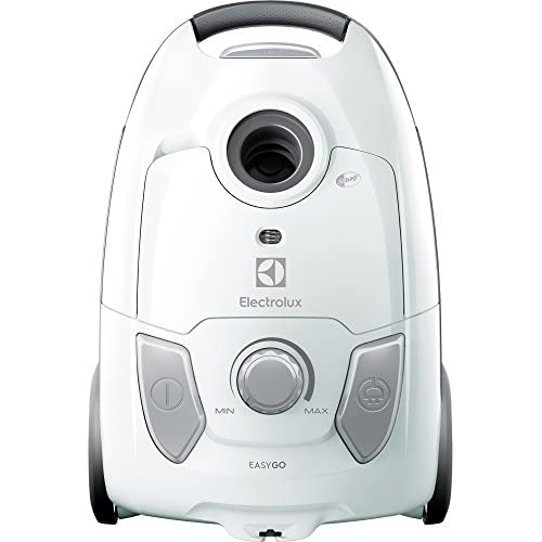 Electrolux EEG41IW Aspirapolvere con Sacco Easygo, Hygiene Filter 12, Versione Base, 600 W, 3.5 Litri, 80 Decibel, Bianco
