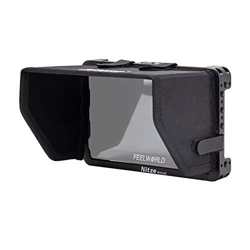 Nitze Monitorkäfig mit Sonnenblende und HDMI-Kabelklemme für Feelworld F6 Plus 5,5 Zoll Monitor - TP2-F6PLUS
