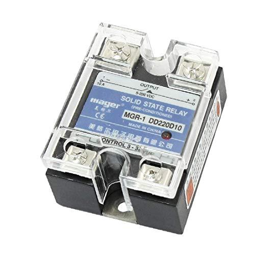 DC3-32V a DC5-220V Rectángulo de alto rendimiento Cubierta transparente Essential Regulador de temperatura Pid digital de relé de estado sólido de una fase (c14-0a-2d-d64)