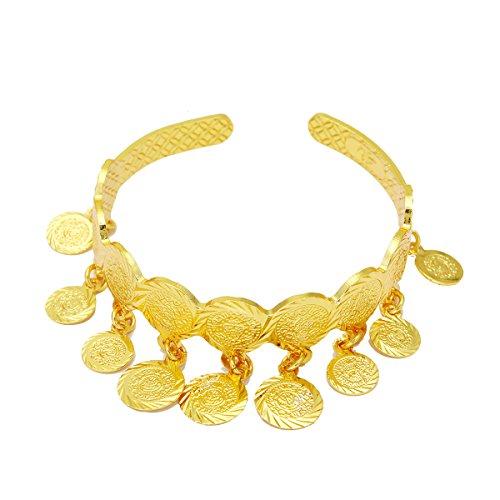 Armreif Medaille Gold Farbe arabischen Münze Armreif für Kinder Kinder Schmuck