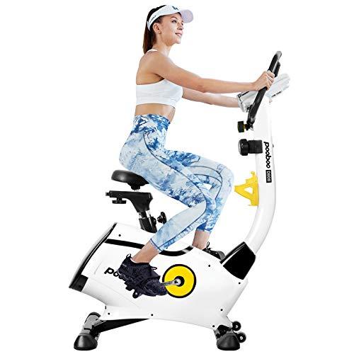 pooboo Magnetic Exercise Bike, Indoor Cycling Bike, Upright...