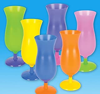 8 inches Plastic Neon Hurrican Glass, Case of 72
