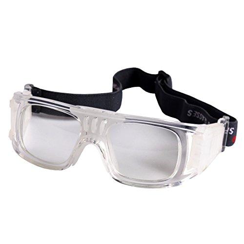 Andux Baloncesto Fútbol Fútbol Deportes Gafas Protectoras Gafas Gafas de Seguridad LQYJ-01 (Blanco)