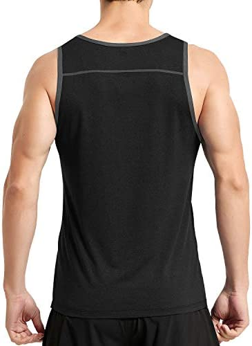 VAYAGER Men's Workout Tank Tops Bodybuilding Gym Athletic Quick Drying Training Sleeveless Shirts