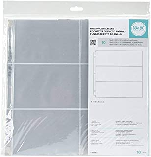 We R Memory Keepers Photo Sleeves, Holds 4 x 6 inch Photos, 10 Pack