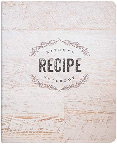 "C.R. Gibson Wood Panel Rustic Spiral Recipe Journal, 100 Pages, 7.25"" x 9"" (QMR-18687)"